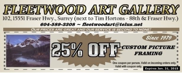 25% Off Picture Framing at Fleetwood Art Gallery - Shopping ...