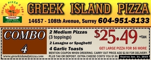 Greek's pizzeria carmel coupons