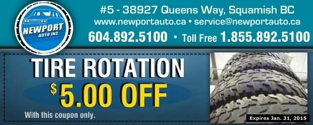 photograph relating to Newports Coupons Printable identify $5.00 Off Tire Rotation at Newport Motor vehicle Inc. - Motor vehicle Maintenance