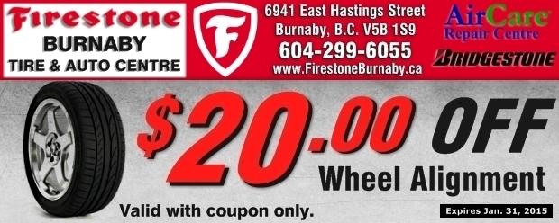 20 00 Off Wheel Alignment At Firestone Burnaby Tire Auto Auto