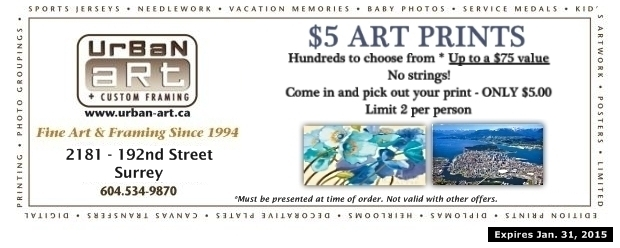 Art Prints $5.00 at Urban Art Custom Framing - Shopping & Services ...