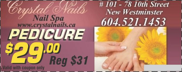 Crystal Nails Spa New Westminster Bc