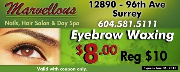 Eyebrow Waxing $8 00 at Marvellous Nails, Hair Salon & Day