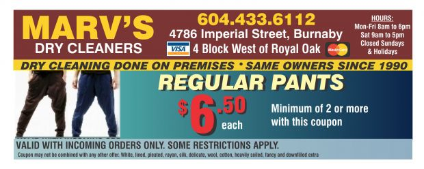 photo about Printable Dry Cleaning Coupons known as Dry Cleansing $5.50 at Marvs Dry Cleaners - Searching
