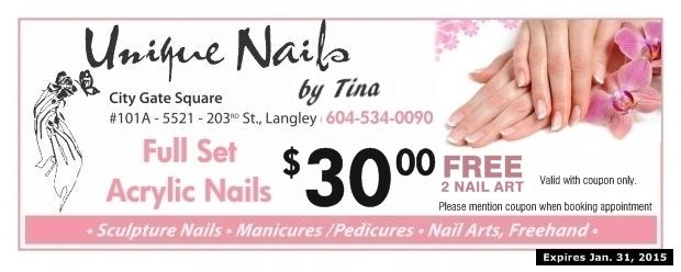 Acrylic Nails 3000 At Unique Nails By Tina Health Beauty