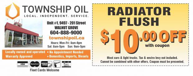 Radiator flush coupons
