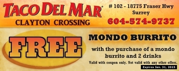 coupons for del mar restaurant