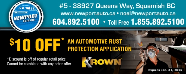 graphic regarding Newports Coupons Printable named Rust Stability $10.00 Off at Newport Car Inc. - Vehicle
