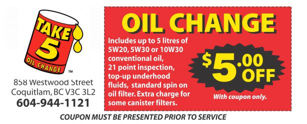 Oil Change Coupons >> Oil Change 5 00 Off At Pro Oil Change Auto Repair Coupons