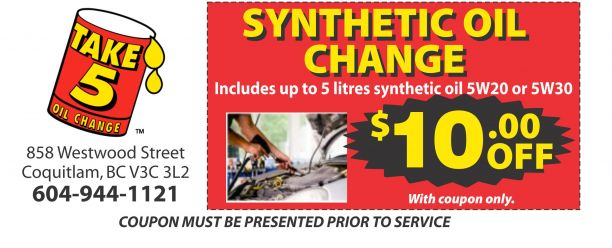 Oil Change Coupons >> Synthetic Oil Change 10 00 Off At Pro Oil Change Auto