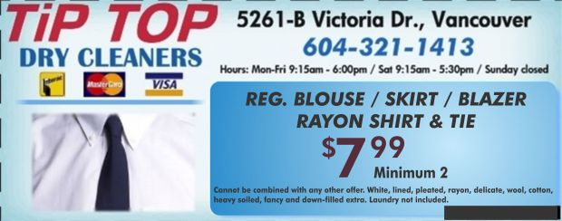 Tip top cleaners coupons