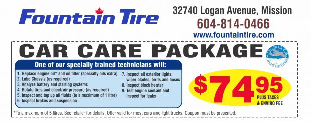 oil change car care   fountain tire auto repair coupons mission bc couponsbcca
