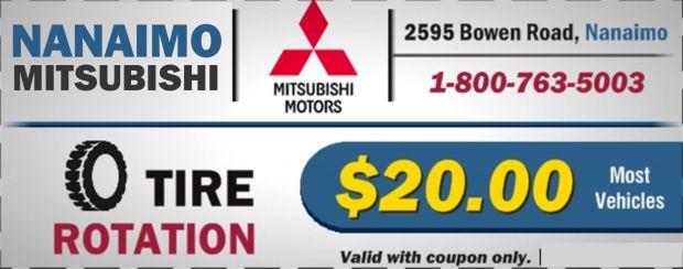 Tire Rotation $20.00 at Nanaimo Mitsubishi - Auto Repair s ...