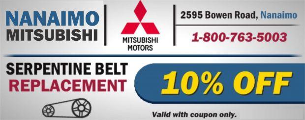 Serpentine Belt Replacet 10% Off at Nanaimo Mitsubishi - Auto ...