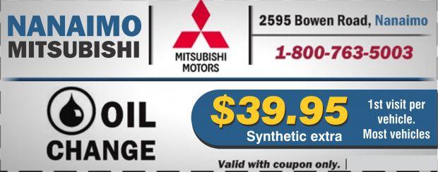 Oil Change $39.95 at Nanaimo Mitsubishi - Auto Repair s ...