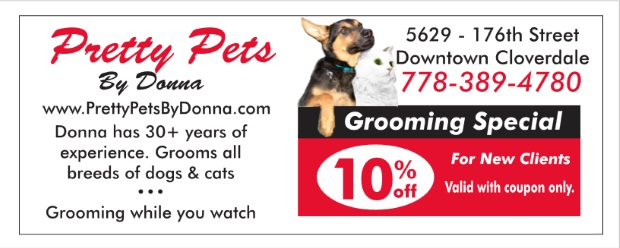image relating to Printable Pet Coupons identify Dog Grooming 10% Off at Wonderful Animals By means of Donna - Searching