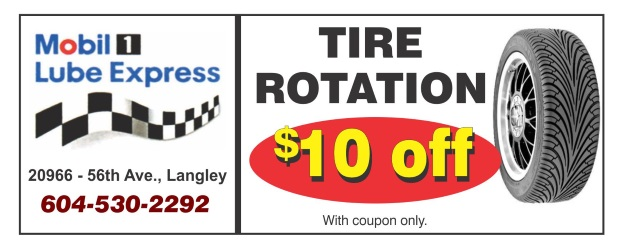 Tire Rotation Coupon >> Tire Rotation 10 00 Off At Mobil 1 Lube Express Auto Repair
