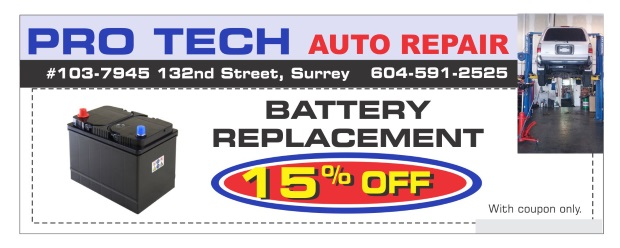 image regarding Printable Battery Coupons named Battery Substitute 15% Off at Skilled Tech Car or truck Fix - Motor vehicle