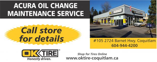 Acura Oil Change Maintenance Service At OK Tire Auto Repair - Acura coupons oil change