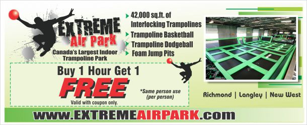 Extreme air trampoline park coupons