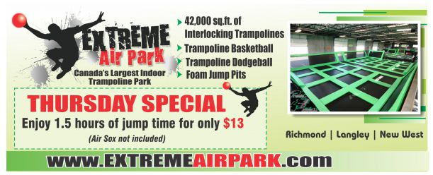 1 5 hours of jump time at extreme air park fun. Black Bedroom Furniture Sets. Home Design Ideas