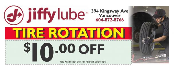 Tire Rotation Coupon >> Tire Rotation 10 00 Off At Jiffy Lube Auto Repair Coupons