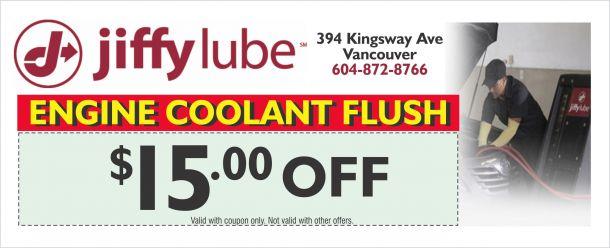 Jiffy lube coolant flush