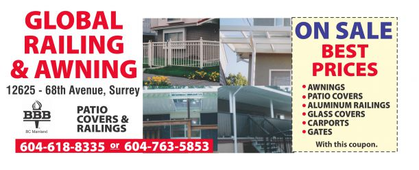 Patio Covers On Sale At Global Railing Awning Home Garden