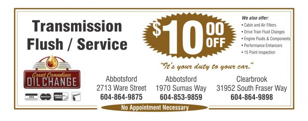 Transmission Service $10 00 Off at Great Canadian Oil Change