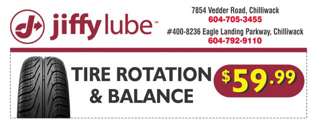 Tire Rotation Coupon >> Tire Rotation Balance 59 99 At Jiffy Lube Auto Repair Coupons