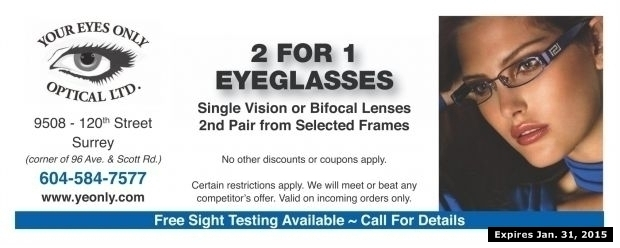 Eyeglasses discount coupons