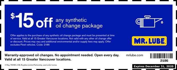 mr lube oil change coupon 2019