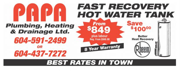 photograph regarding The Limited Printable Coupon identify Clean Sizzling H2o Tank against $849.00 at Papa Plumbing Heating