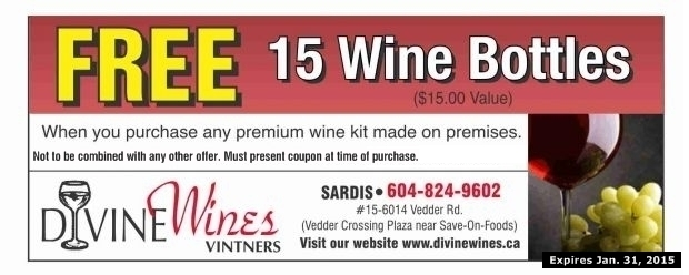 FREE at Divine Wines - Grocery & Liquor Coupons - Chilliwack