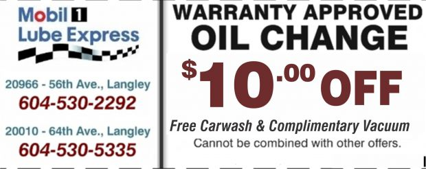 Oil change langley coupons