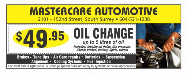 Oil change coupons white rock bc
