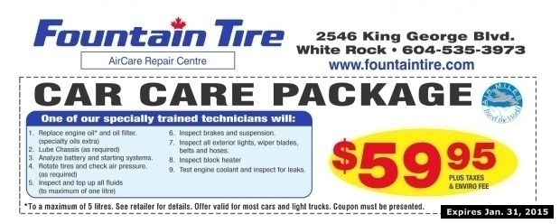 car care package  fountain tire auto repair coupons surrey bc couponsbcca
