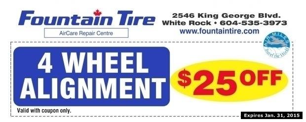 wheel alignment    fountain tire auto repair coupons surrey bc couponsbcca