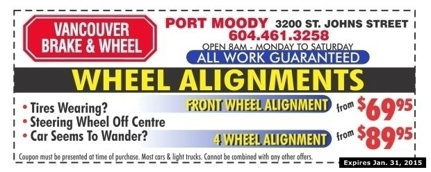 Wheel Alignment Coupons >> Wheel Alignment From 69 95 At Vancouver Brake Wheel Auto Repair