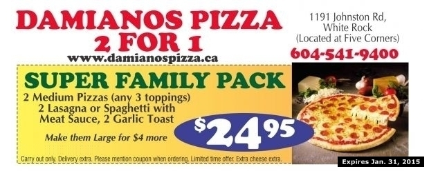 Pizza rock coupons
