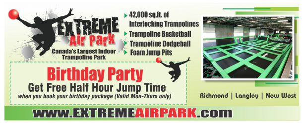 birthday party special at extreme air park fun. Black Bedroom Furniture Sets. Home Design Ideas