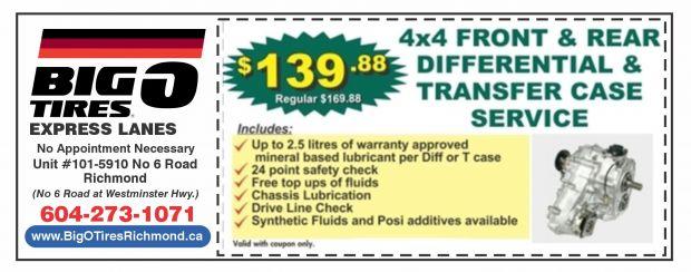 Only 139 88 At Big O Tires Express Lanes Auto Repair