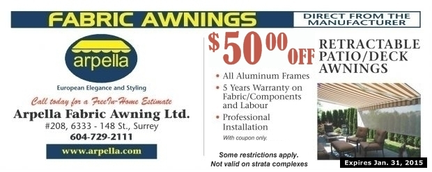 50 00 Off Awnings At Arpella Fabric Awning Ltd Home
